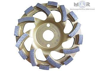 Diamant-Schleifteller / Schleiftopf / Topfschleifer Ø 125 mm - Beton Cup Premium für Beton, Granit + Naturstein, sehr hohe Standzeit! |