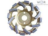 Diamant-Schleifteller / Schleiftopf / Topfschleifer Ø 125 mm - Beton Cup Premium für Beton, Granit + Naturstein, sehr hohe Standzeit!