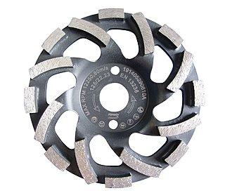 Diamant-Schleifteller / Schleiftopf / Topfschleifer Ø 125 mm - Abrasiv Cup Premium, sehr hohe Standzeit für Sandstein, Estrich, Putz, abrasive Betonprodukte. |