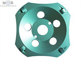 Diamant-Schleifteller / Schleiftopf Ø 125 mm - PKD Cup für Beschichtungen aller Art. | Extrem schnelle Abtragsleistung und hohe Standzeit im empfohlenen Anwendungsbereich.