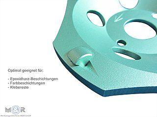 Diamant-Schleifteller / Schleiftopf Ø 125 mm - PKD Cup mit 4 extrem harte PKD-Segmente (Polykristalliner Diamant).