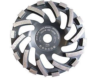 Diamant-Schleifteller Ø 148 / 150 mm passend zum Hilti Betonschleifer DG 150. | Für abrasive Betonprodukte, Sandstein, Estrich, Putz. Sehr hohe Standzeit im empfohlenen Anwendungsbereich!
