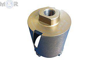 """Diamant-Dosensenker Ø 68 mm """"Laser-Turbo Gold"""" mit M16-Anschluss und 10 mm hohen Turbo-Profi-Segmenten"""