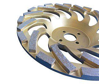 Diamant-Schleifteller / Schleiftopf Ø 180 mm für Beton & Naturstein ✓ Premium-Ausführung ✓ sehr hohe Standzeit - Segmentansicht