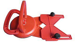 Anbohrhilfe aus Kunststoff für Fliesenbohrer / Fliesen-Bohrkronenvon Ø 6-82 mm | stufenlos verstellbar, einfache Befestigung durch den Saugfuß, starke Ansaugglocke