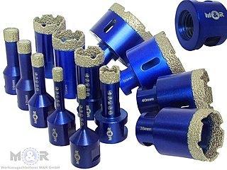 M14 Diamant Fliesenbohrer Bohrkrone Diamantbohrer Ø 6 - 82 Fliesenbohrkrone für die Flex / Winkelschleifer | Besten geeignet für Fliesen, Feinsteinzeug, Kacheln, Keramik, dünne Natursteine etc.
