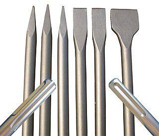 SDS-Max-Meißel - Spar-Set | 3x Spitzmeißel 400 mm, 2x Flachmeißel 400 x 25 mm, 1x Spatmeißel 400 x 50 mm