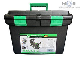 Lieferung der Schlitzfräse EMF 150 erfolgt im Kunststoffkoffer