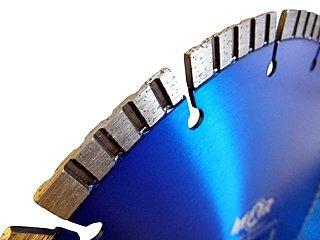 """Segmentansicht - Diamant-Trennscheibe """"Laser-Turbo Premium"""" mit 12 mm hohen Turbo-Block-Segmenten."""