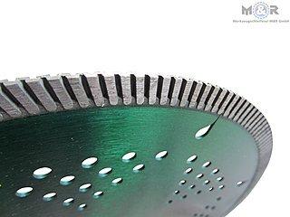 Diamant-Trennscheibe Ø 350 x 20 mm für Granit, harte Natursteine, harte Kunststeine, Marmor, Klinker, Steinzeugrohre und duktile Gussrohre.