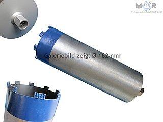 Ø 162 mm Diamant-Trocken-Bohrkrone - Galeriebild - Premium-Ausführung für hartes Kalksandstein, Klinker, Ziegel, Beton ohne Bewehrung