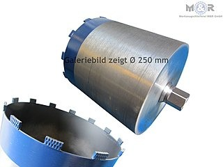 Ø 250 mm Diamant-Trocken-Bohrkrone - Galeriebild - Premium-Ausführung für hartes Kalksandstein, Klinker, Ziegel, Beton ohne Bewehrung