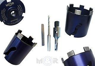 Diamant-Dosensenker / Dosenbohrer ARXX Ø 68 + 82 mm + SDS-Plus als Set ✓ für Stahlbeton, harten Beton & mehr ➤ online & stationär günstig bei M&R |
