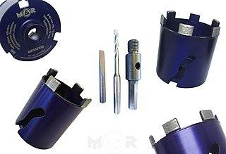 Diamant-Dosensenker / Dosenbohrer ARXX Ø 68 + 82 mm + 6-Kant als Set ✓ für Stahlbeton, harten Beton & mehr ➤ online & stationär günstig bei M&R |