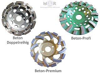 Diamant-Schleiftopf Ø 125 mm für Beton & Granit - 3 Stück als Spar-Set! | Finden sie ihren persönlichen Favoriten unter den Schleiftöpfen für harte Materialien!