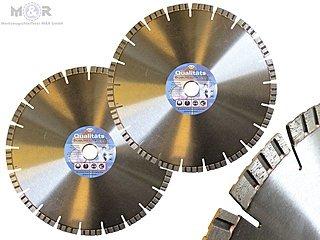 2 Stück Diamant-Trennscheibe / Diamant-Sägeblatt Ø 300 x 25,4 mm als Spar-Angebot für Beton, Stahlbeton, Ziegel, Klinker. |