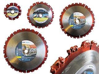 Hartmetall-Sägeblatt HM-Trennscheibe Rip Cut Nozar - für Baumwurzeln, Ãste, Bauholz, Sperrholz, Bahnschwellen, Holzpaletten, Dachpappe, Autoreifen, harte Kunststoffe. |